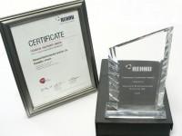 Klimatrol Award and Certificate